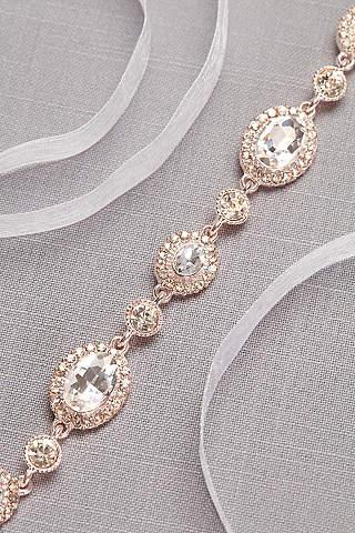 Wedding dress accessories bridal accessories davids bridal graduated crystal medallion sash junglespirit Choice Image