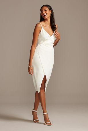 Short Sheath Wedding Dress - DB Studio