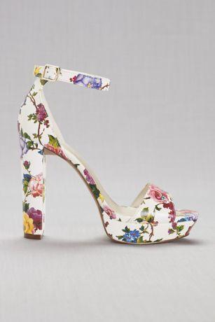 9d9ba5c215706 Floral Platform Heels · David s Bridal