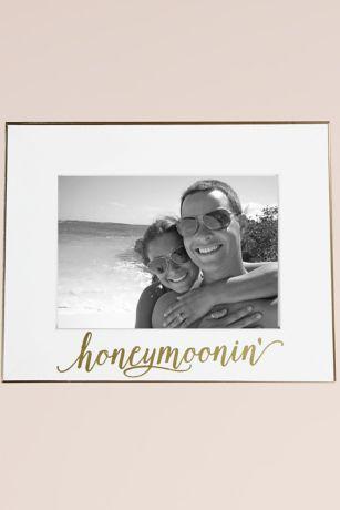 Honeymoonin White and Gold Frame