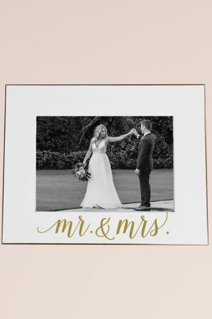 Mr and Mrs White Scripted Frame