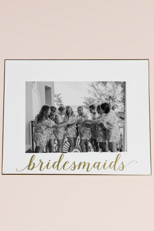 White and Gold Bridesmaid Frame