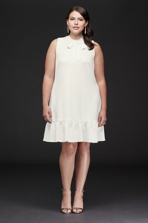 Short Sheath Wedding Dress - Betsey Johnson