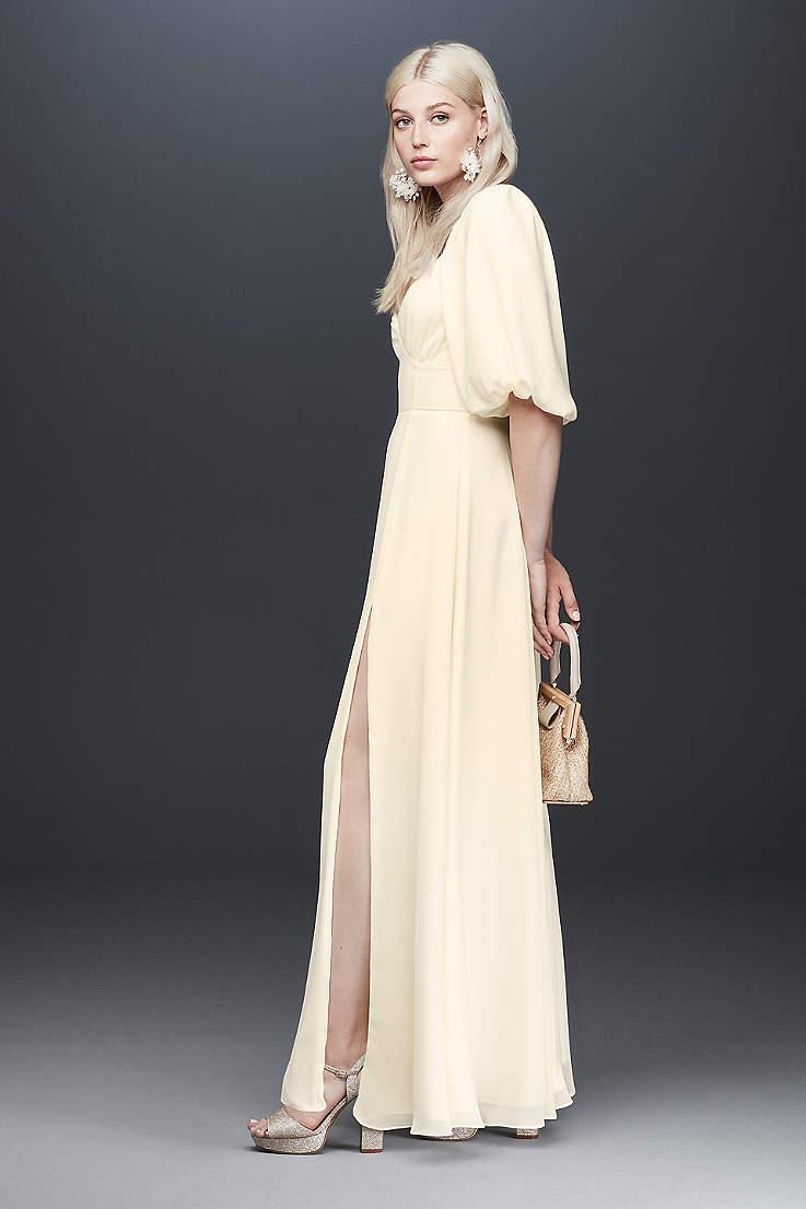 5fd9122824 Long Sheath Wedding Dress - Fame and Partners x David's Bridal