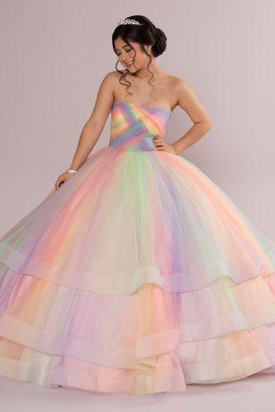 Long Ballgown Strapless Dress - Fifteen Roses