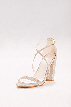 Crisscross Strap Block Heel Sandals FRENZY
