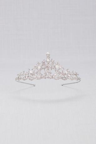 Crystal and Pearl Filigree Tiara