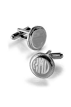 Personalized Round Beaded Cufflinks