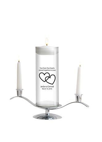 Personalized Floating Designs Unity Candle Set