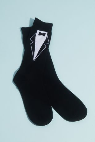 No Cold Feet Groom Socks with Tie Detail
