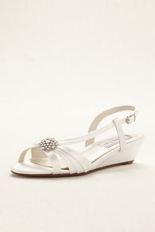 Touch Ups White Sandals (Geri Dyeable Wedge Sandal by Touch Ups)