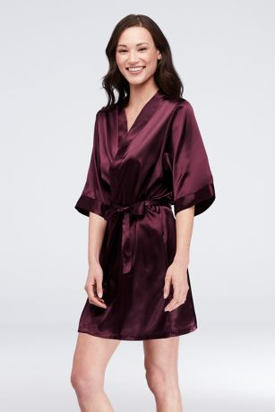 Maid of Honor Embroidered Satin Robe