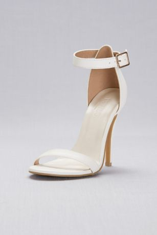 David's Bridal Black;Grey;White;Yellow Sandals (Simple Ankle Strap Sandals)