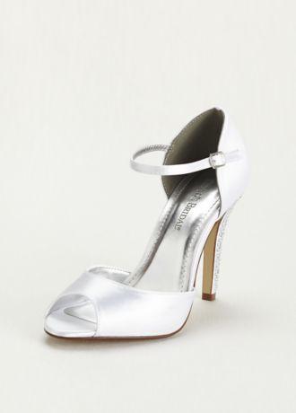 Dyeable Sandal with Crystal Embellished Heel
