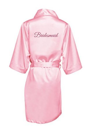 Glitter Print Bridesmaid Satin Robe