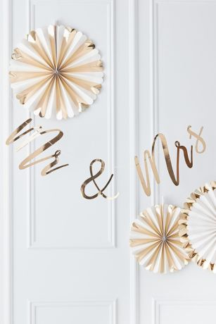 Gold Mr and Mrs Wedding Banner
