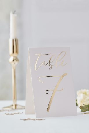 Gold Table Card Numbers