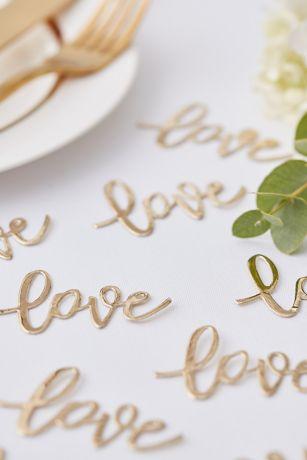 Golden Love Table Confetti