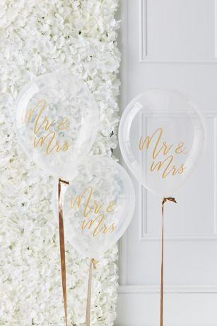 Mr and Mrs Script Balloons