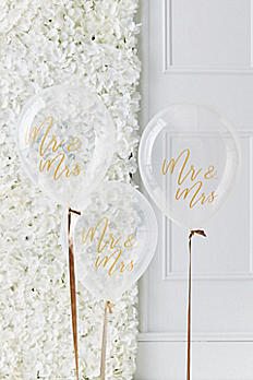 Mr and Mrs Script Balloons GO-142