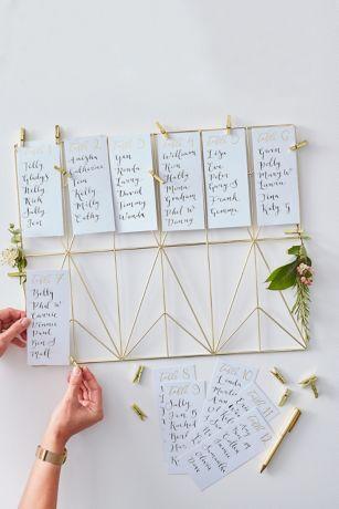 Ginger Ray Gold Wedding Table Plan Kit