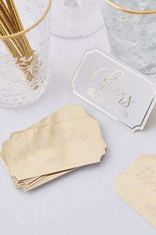 On Us Gold-Foil Drink Tokens