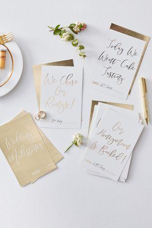 Gold Foil Wedding Milestone Cards
