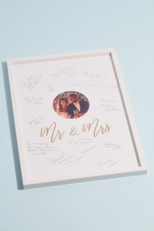 Framed Mr and Mrs Wedding Guest Book Alternative