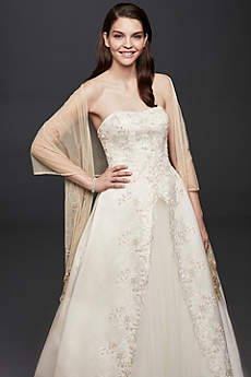 Mesh Embellished Wrap David S Bridal