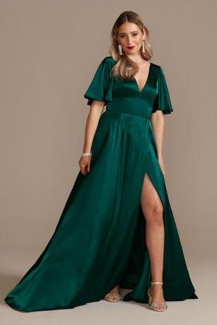 Soft & Flowy Galina Signature Long Bridesmaid Dress