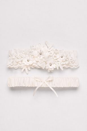 Soft Flower Garter Set