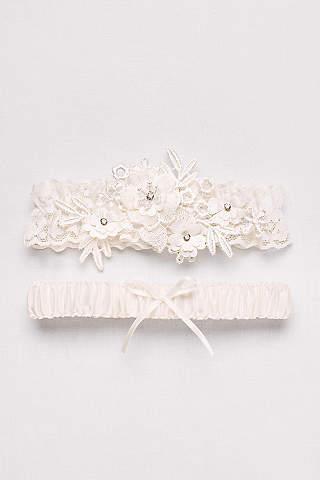 Soft Flower Garter Set