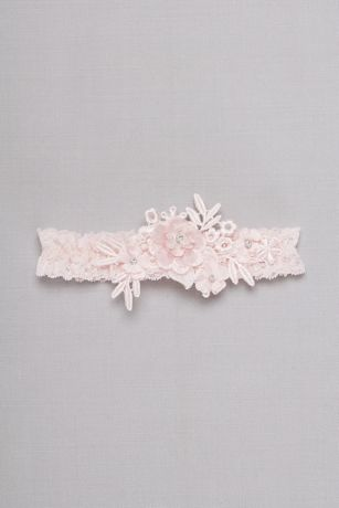 Venise Lace Applique Garter