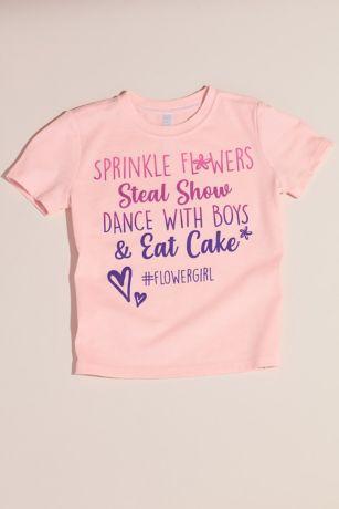 Sprinkle Flowers and Eat Cake Flower Girl T-Shirt