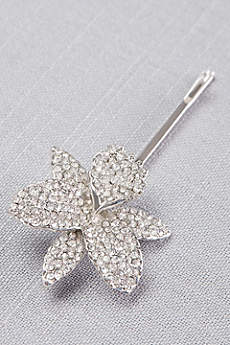 Pave Orchid Bobby Pin