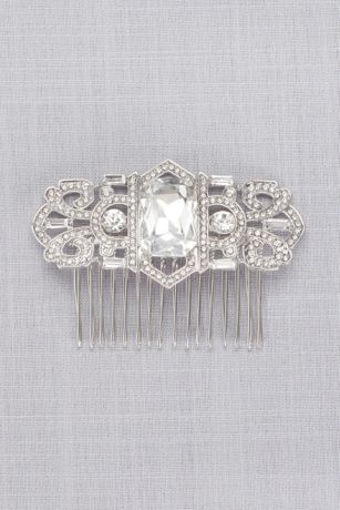 Art Deco Crystal Pave Comb