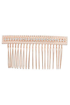 Linear Crystal and Pearl Hair Comb