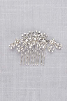 Classic Pave Crystal Floral Comb