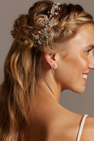 Blooming Marquise Cut Crystal Crown Head Piece