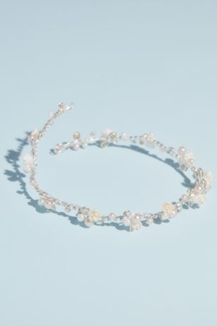 Pearl and Crystal Floral Hair Vine