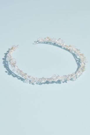 Bead and Crystal Wire Wedding Crown