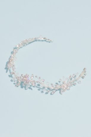 Flowering Hair Vine with Crystals and Beads