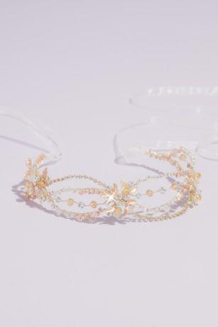 Crystal Loops Floral Headband