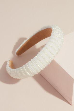 Pearl Stripe Puff Headband