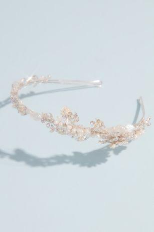 Vintage-Inspired Pearl and Crystal Flower Headband