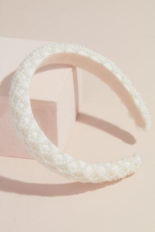 Pearl Lattice Puff Headband