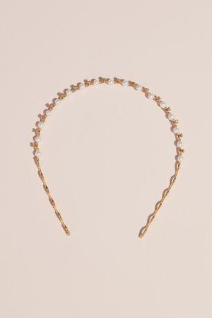 Pearl and Crystal Waves Headband