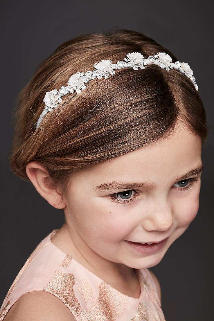 flower girls hair accessories | david's bridal