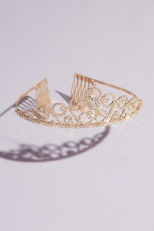 Looping Center Stone Crystal Quinceanera Tiara