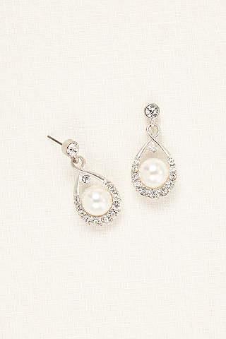 Crystal And Pearl Drop Earrings